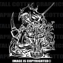 reaper white vinyl decal