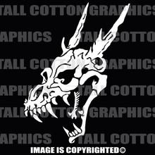 dragon skull white vinyl decal