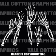 skeleton arms white vinyl decals
