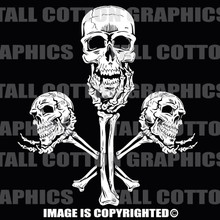 skulls in hands white vinyl decal