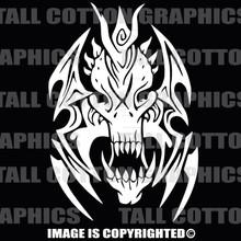 alien tribal skull white vinyl decal