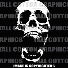 Human skull white vinyl decal