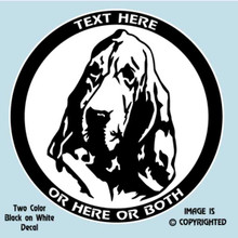 BLOODHOUND  DOG (Head Study) vinyl decal