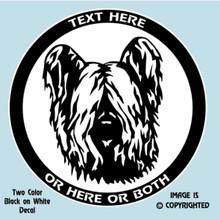 skye terrier vinyl decal