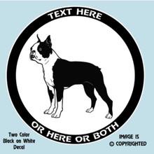 boston terrier vinyl decal