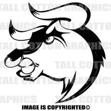 bull black vinyl decal