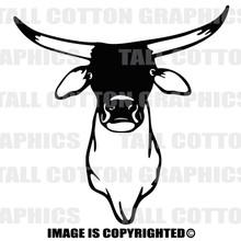 brahma bull black vinyl decal
