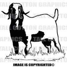 buck boar goat black vinyl decal