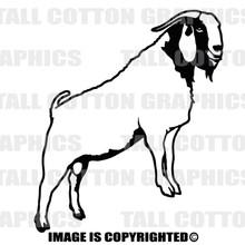 boar goat black vinyl decal
