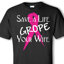 grope wife black t-shirt