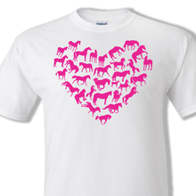 Horses heart white t-shirt