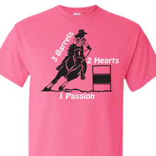 barrel racing safety pink t-shirt