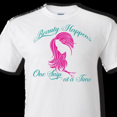 hairdresser white t-shirt