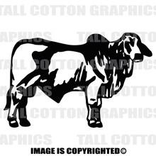 brahma bull black decal