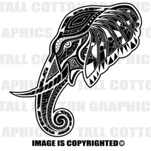 deco elephant black vinyl decal