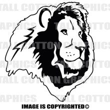 lion head black vinyl decal