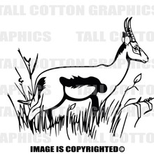 antelope black vinyl decal