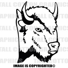 buffalo black vinyl decal