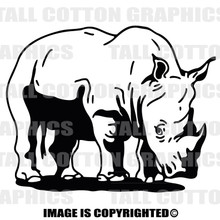 rhino black vinyl decal