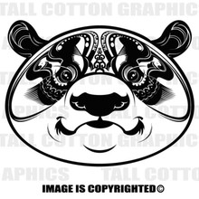 panda head black vinyl decal