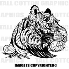 art deco tiger black vinyl decal
