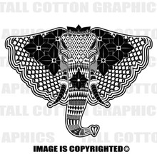 elephant black vinyl decal