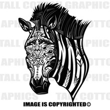 zebra black vinyl decal