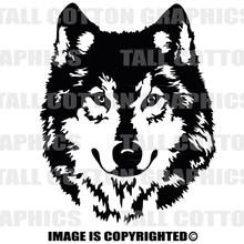 wolf black vinyl decal