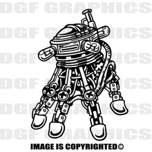 edison robot black vinyl decal
