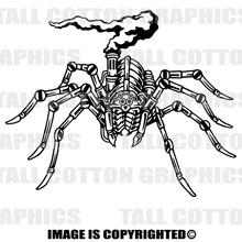 robot spider black vinyl decal