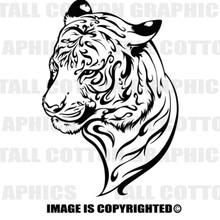 tiger black vinyl decal