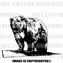 bear black vinyl decal