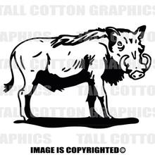 warthog black vinyl decal
