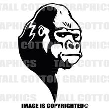 gorilla black vinyl decal
