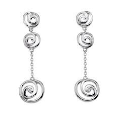 Hot Diamonds long drop earrings Eternity Spiral DE307