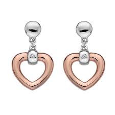 Hot Diamonds drop earrings Just Add Love Bonded Heart DE369