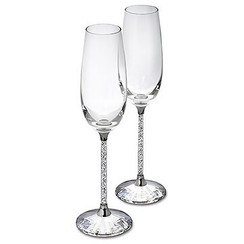 SOLD OUT! Swarovski Crystalline Toasting Flutes (Set of 2) 255678