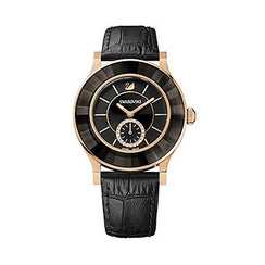 SOLD OUT! Swarovski Octea Classica Black Rose Gold Tone Watch 1181762