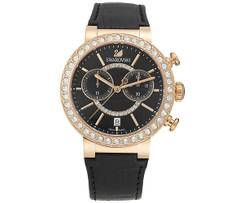 SOLD OUT! Swarovski Citra Sphere Chrono Black Rose Gold Tone Watch 5055209