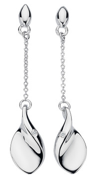 Hot Diamonds long drop earrings Go With The Flow Teardrop DE330