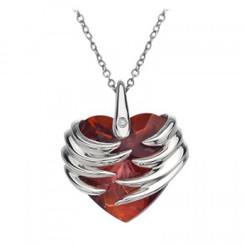 Hot Diamonds necklace Angel Heart Magma DP433