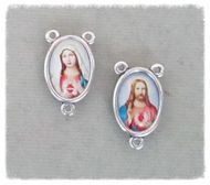 """Sacred & Immaculate Heart Rosary Center .75"""" COLOR 2 sided"""