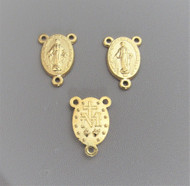 """Miraculous Oval Center 1/2"""" GOLD ~ Lot 3"""