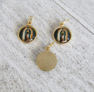 Lady of Guadalupe SMALL Color Charm GOLD - Lot 3