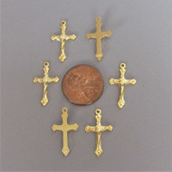 TINY Rosary Crucifix GOLD - Lot 6