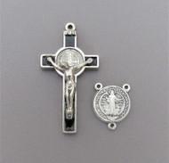 Rosary CENTER & CRUCIFIX Saint Benedict BLACK