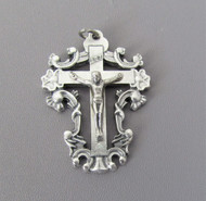 Open Scroll Rosary Crucifix