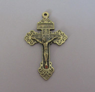 "Pardon Rosary Crucifix 2"" Bronze"