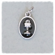 BLACK First 1st Communion Chalice Charm