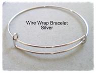 Wire Wrap Bangle Bracelet Stackable SILVER